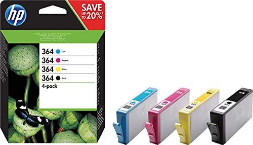 HP 364 (N9J73AE) Cartucce Originali per Stampanti a Getto di Inchiostro HP Photosmart B210c, B110c,...