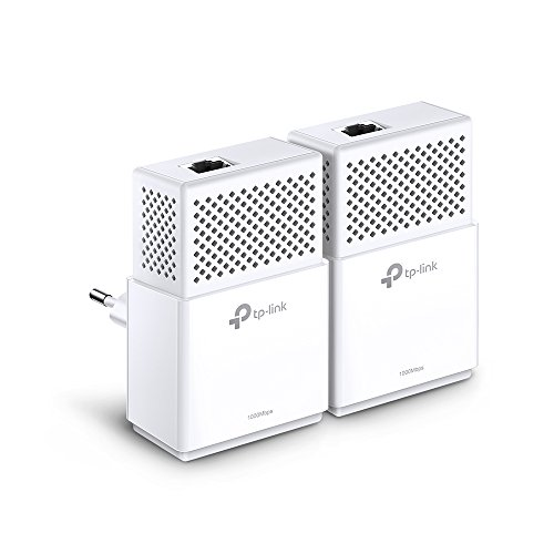 TP-Link TL-PA7010 KIT Powerline Adapter (1000Mbps(2-Ports) Powerline, Ohne Steckdose, 1x Gigabit Port, Plug & Play, energiesparend, kompatibel zu allen gängigen Powerline Adaptern) weiß