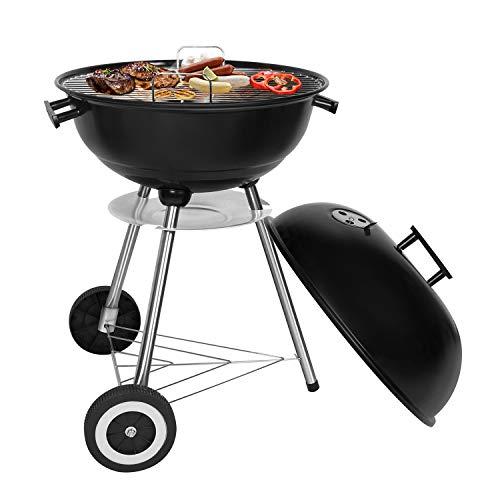 SunJas BBQ Barbecue Grill Griglia Carbone BBQ in Ferro Giardino Barbecue Grill con 2 Vassoio (45 x...