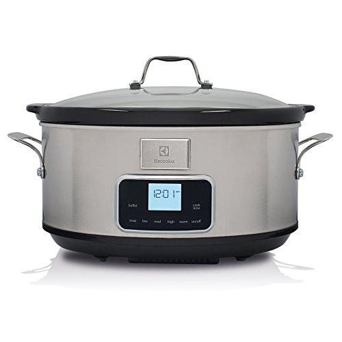 Electrolux ESC7400 Slow Cooker, Pentola Elettrica in Ceramica, Argento