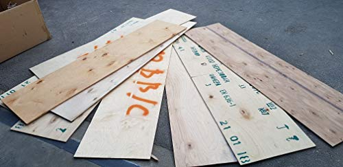 6-7mm Sperrholzplatten Multiplex Platten 37 x76cm Bastler Holz Stücke Holzreste Bastelholz, Menge wählen:20 Stück