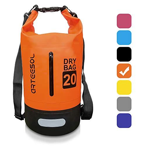 ARTEESOL Dry Bag - 5L/10L /20L /30L Wasserdichte Packsack/Trockentasche, Verstellbarer Schultergurt Inklusive, Geeignet