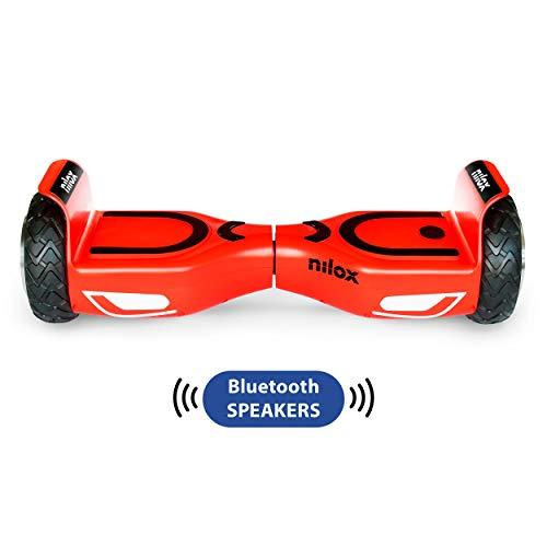Nilox Doc 2 Hoverboard Plus, Unisex Adulto, Rosso/Nero, Taglia Unica