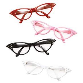Bristol Novelty Mujer 50s Roca N Roll Retro GRASA Caniche Bufanda Gafas Disfraz Traje negro gafas