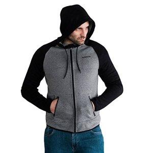 PG-Wear-Full-Face-Kapuzenjacke-Hool-mit-Sturmhaube-schwarz-grau-S-XXXL
