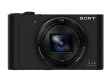 "Sony Cyber-Shot DSC-WX500 - Cámara compacta de 18 Mp (pantalla de 3"", zoom óptico 30x, sensor Exmor R, pantalla para selfies, Wi-fi / NFC), negro"