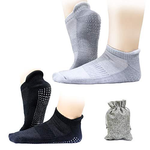 Finomo Calze da yoga Calze sportive con grip antiscivolo in gel di silice per pilates Fitness Dance...