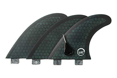 Liquida Flat Carver Finnen, FCS I System, G5 Medium in Fibra di Vetro Honeycomb, Deep Water Black/Green