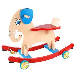 Wanlianer-Activity Caballo Mecedora de Madera para niños pequeños y niños Regalo de inauguración de la casa (Color : Wood, tamaño : 69.6 * 34.8 * 49.5cm)