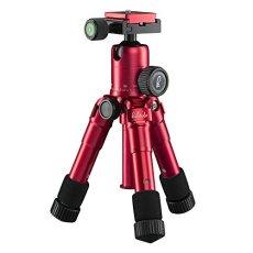 Mantona 21183 Digitales / cámaras de película 3leg(s) Rojo tripode - Trípode (Digitales / cámaras de película, 5 kg, 3 pata(s), 49,5 cm, Rojo, Sistema de bloqueo por giro Twist Lock o Sistema de cierre tipo rosca Twist Lock)