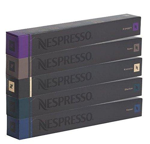 NESPRESSO Capsule Originali Caffe Assortimento, 50 Capsule - 10x Roma 10x Ristretto 10x Kazaar 10x...