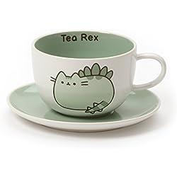 Pusheen Nuestro Nombre es Barro té Rex Taza y platillo, cerámica, 100x 130x 70cm