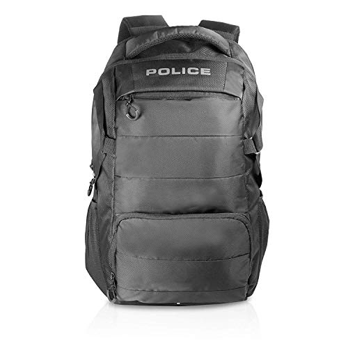 Police Polyester 30 Ltr Black Laptop Backpack