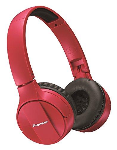 Pioneer SE-MJ553BT-R - Auriculares Tipo botón (con micrófono, límite de eficacia 100dB)