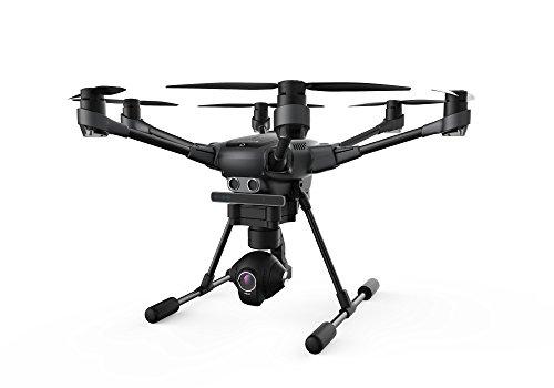 Yuneec TYHBREU Typhoon H RTF con Videocamera 4K panoramica a 360°, Telecomando, Gimbal, 2 Batterie e Zaino, Nero