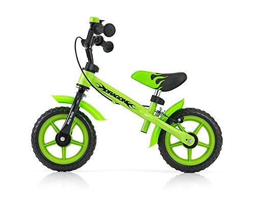 MillyMally 0301–Bicicletta Tipo Bicicletta Senza Pedali per Bambini Ruote di 10con Freni e...