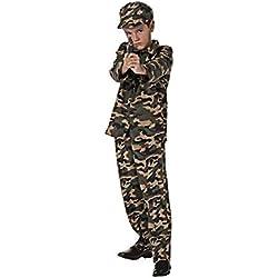 Costumizate! Disfraz de Militar Talla 10-12 Especial para niños Fiestas de Disfraces o Carnaval