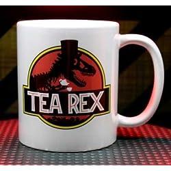 Tea Rex Jurassic Park T-rex Parody Funny Coffee Mug/Tazas de desayuno Tea Cup Double Sided