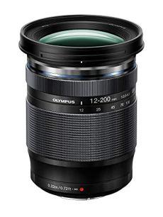 Olympus M.ZUIKO - Objectivo Digital ED 12-200 mm F3.5-6. (Distancia de Enfoque 10 cm, Zoom de 16.6X, 72 mm de diámetro, 16 Elementos en 11 Grupos) Negro