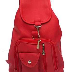 Vintage Stylish Synthetic School / College Backpack Bag For Girls (Bag R 124) 12