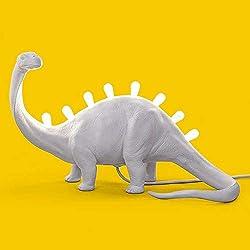 Seletti Jurassic Lamp Bronto Lámpara de mesa Rex con forma de dinosaurio blanco