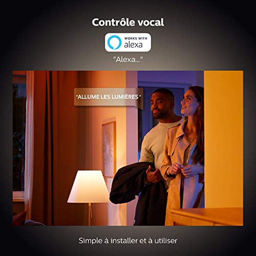 41XAbcR9u9L Bon Philips Hue !  Philips Hue Ampoules LED Connectées White & Color Ambiance B22 Compatible Bluetooth, Fonctionne avec Alexa Pack de ...