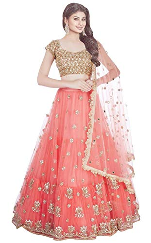 Wandar Beauty women'sEmbroidered multicolour Semi Stitched lehengas, lehenga choli (WANDR-09,FreeSize)