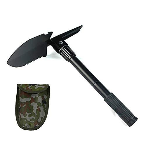 Unicoco Multifunktionaler Klappspaten, Stahl Mini Schaufel , Carry Pouch für Wandern, Camping, Gartenarbeit, Survival, Angeln(12.5, 9.5 cm) Ultra hohe Qualität