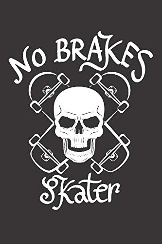 Notebook for sk8er sk8 longboard skate no brakes: Dot Dotted Grid Funny Notebook Diary Journal...