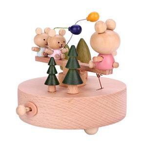 Caja de Música de Madera Bebé Creativo Artesanía de Juguete Juguetes de Música Vintage para El Día de San Valentín…