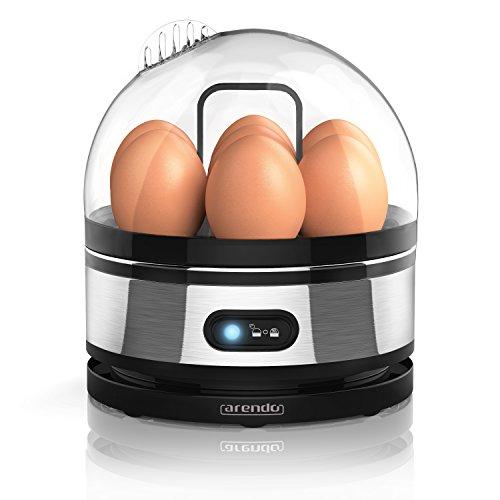Arendo - Cuiseur à oeufs avec fonction maintien de la température « Sevencook »| Egg cooker | commutateur de fonctions de basculement avec voyant lumineux | degré de dureté réglable | signal acoustique | 400 W | trempe de 1-7 oeufs | nettoyage facile | BPA-FREE !