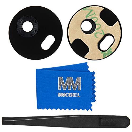 MMOBIEL Repuesto Lente para Cámara Trasera Compatible con Motorola Moto G5S 5.2Pulg (Negro) Inc Pinzas Limpiador