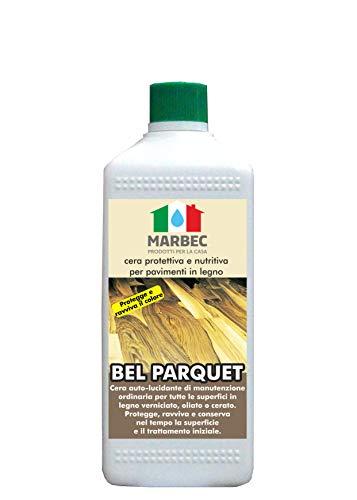 Marbec - Bel Parquet 1lt   Cera Protettiva e nutritiva per Pavimenti in Legno