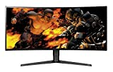 "LG 34GK950G UltraGear Monitor Gaming 34"", Curvo, 21:9 UltraWide LED Nano IPS, Quad HD 3440 x 1440, nVIDIA G-Sync 120 Hz, Sphere Lighting, Multitasking, Regolazione Altezza"