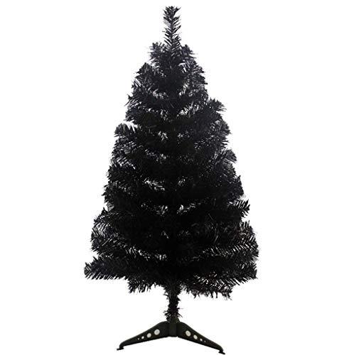 Zinsale Albero di Natale Artificiale del Pino di 3ft / 90cm con la Decorazione dell'albero di plastica dell'albero del Basamento dell'albero (Nero)