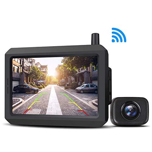 AUTO-VOX Kit Telecamera di Retromarcia Digitale Senza Fili con Monitor LCD, Assistenza al Parcheggio, Trasmettitore Integrato, Telecamera di Backup, Impermeabile IP68, Visione Notturna