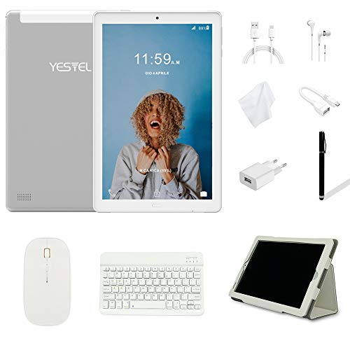 Tablet 10.1 Pollici YESTEL Android 8.0 Tablet PC con 3GB RAM & 32GB ROM e 4G LTE Dual SIM Call, 5.0...