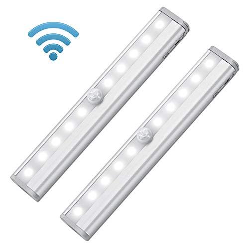 Wireless Motion Sensor Light, luce notturna a LED alimentate a batteria striscia magnetica da...