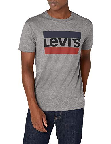 Levi's Graphic, Camiseta para Hombre, Gris (84 Sportswear Logo Midtone Grey Htr 0002), Large