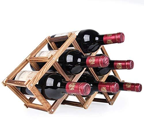 Ducomi Vinoria - Scaffale Portabottiglie Pieghevole in Legno per Vino ed Enoteca - Cantinetta...