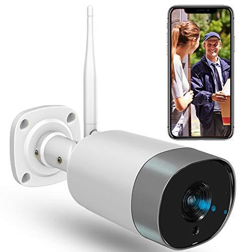 Telecamera di sorveglianza esterna,telecamera di sicurezza WiFi 1080P resistente alle interferenze,audio bidirezionale,rilevamento del movimento,compatibile con IOS/Android,supporto APP allarme.