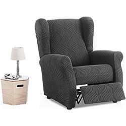 Bartali - Funda de sillón Relax elástica Aitana - Color Gris - Tamaño estandar