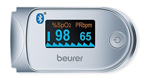 Beurer PO 60 Pulsossimetro Bluetooth a Lettura Istantanea con Visualizzazione Grafica del Battito...
