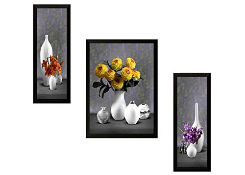 SAF Framed Painting (Synthetic, 13.5 inch x 22 inch, Set of 3)