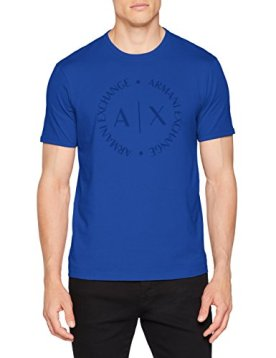 Armani-Exchange-8nztcd-Camiseta-para-Hombre-Azul-Marine-Surf-The-Web-1506-X-Small
