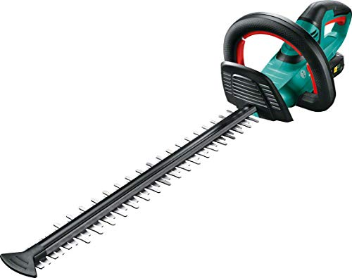 Bosch AHS 50-20 LI - Tijera cortasetos a batería (caja de cartón, 18 V, 2.5 Ah, longitud de corte: 50 cm, distancia entre dientes: 20 mm), sin batería ni cargador