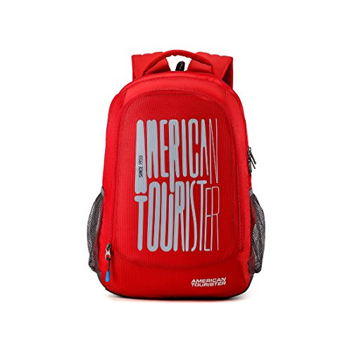 American Tourister 32 Ltrs Red Casual Backpack (AMT Fizz SCH Bag 03 - RED)