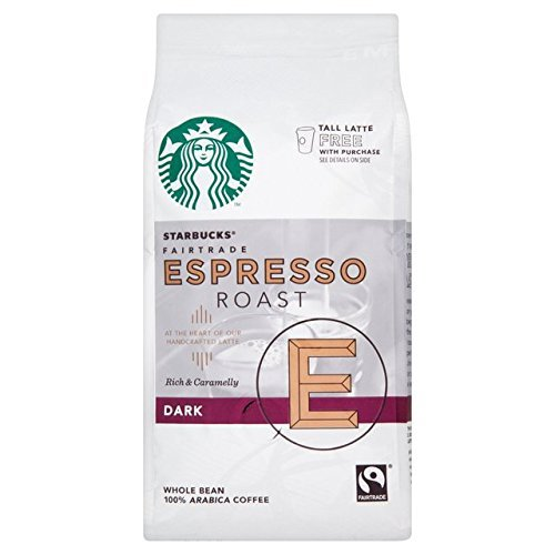 Starbucks Espresso coffee beans (a caramel notes, full-bodied flavour, robust coffee with aromas of caramel and roasted)