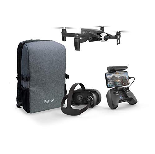 Parrot Anafi - Set di droni FPV - Quadricottero leggero e pieghevole - FPV Cockpitglasses 3 per voli immersivi - Streaming live Full HD - Set completo e compatto con zaino