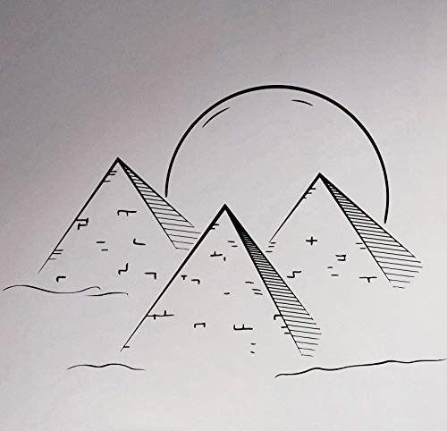 Pirámides egipcias Calcomanía de Pared Paisaje Símbolo Sagrado Etiqueta de Vinilo Interior Antiguo Egipto Decoración de Habitaciones Mural Suministros de Limpieza 56 * 84 cm